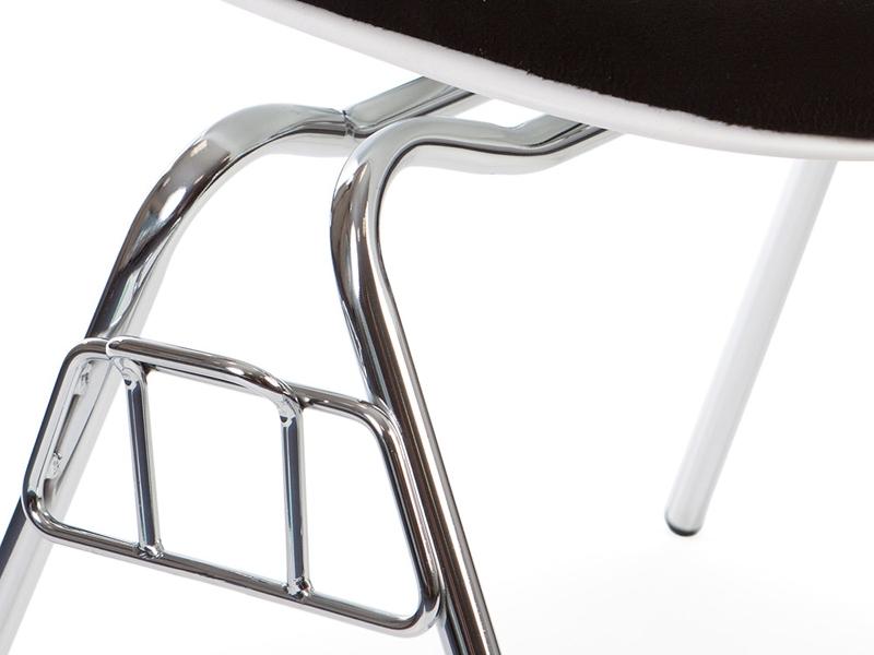 Image de la chaise design Silla DSS apilable acolchada - Negro