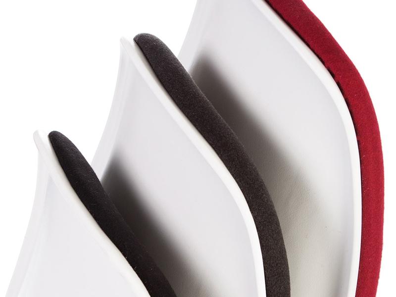 Image de la chaise design Silla DSS apilable acolchada - Rojo