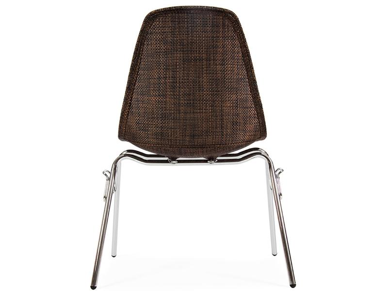 Image de la chaise design Silla DSS Textura apilable - Cacao
