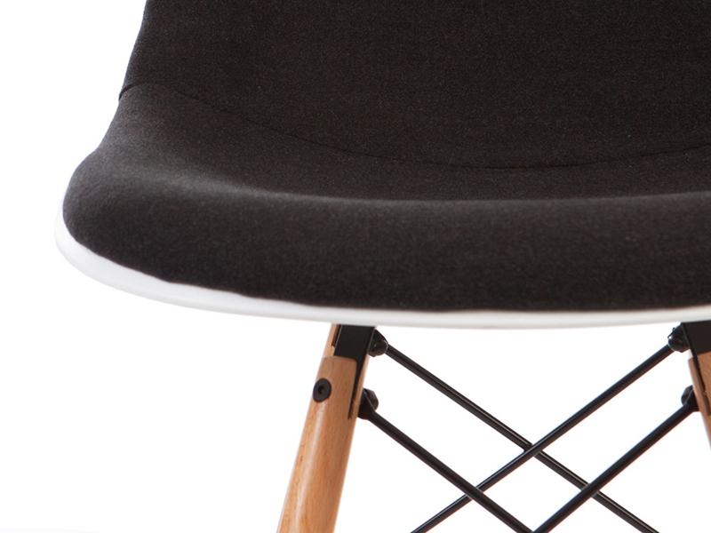 Image de la chaise design Silla DSW acolchada lana - Gris