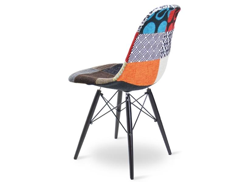 Image de la chaise design Silla DSW acolchada lana - Patchwork