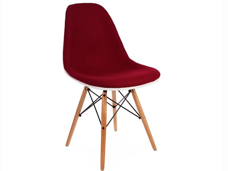 Image de la chaise design Silla DSW acolchada lana - Rojo