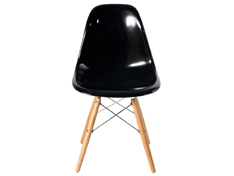 Image de la chaise design Silla DSW Eames - Negro brilliante