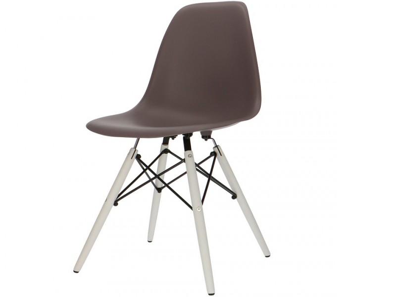 Image de la chaise design Silla DSW - Marron oscuro
