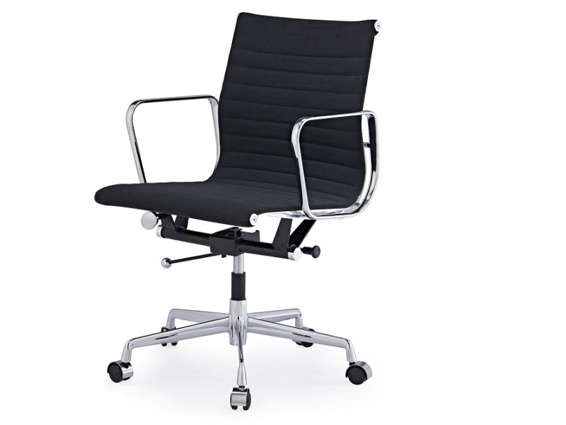 Image de la chaise design Silla Eames Alu EA117 - Antracita