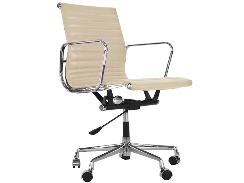 Image de la chaise design Silla Eames Alu EA117 - Beige