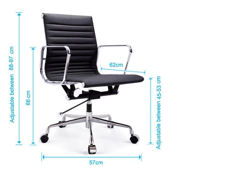 Image de la chaise design Silla Eames Alu EA117 - Habana