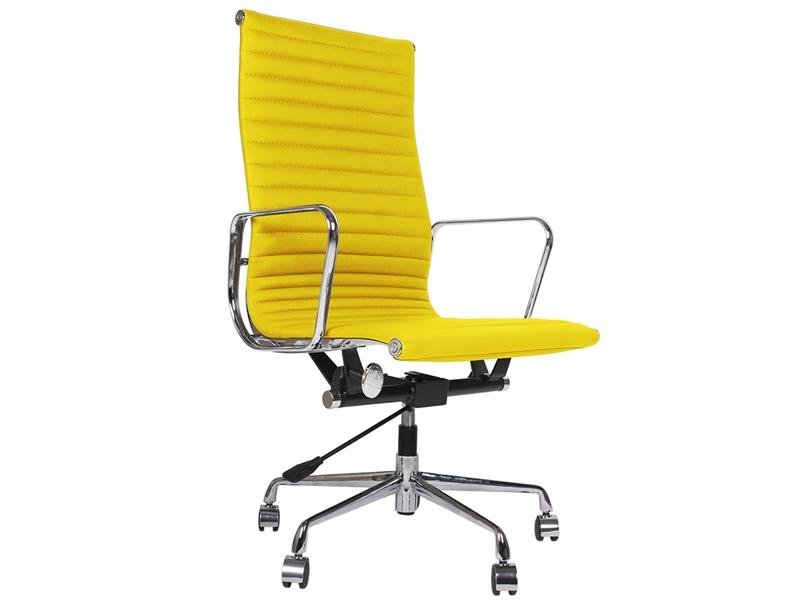Image de la chaise design Silla Eames Alu EA119 - Amarillo