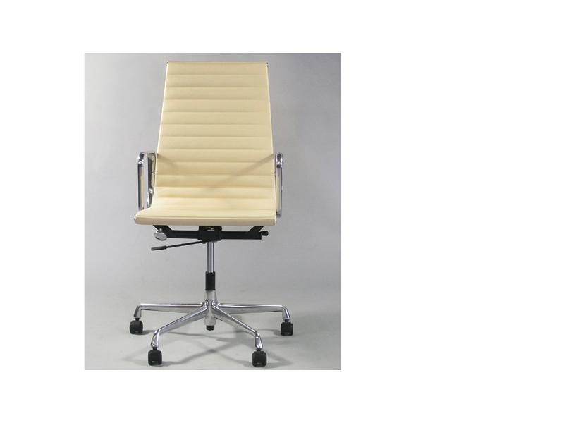 Image de la chaise design Silla Eames Alu EA119  - Beige