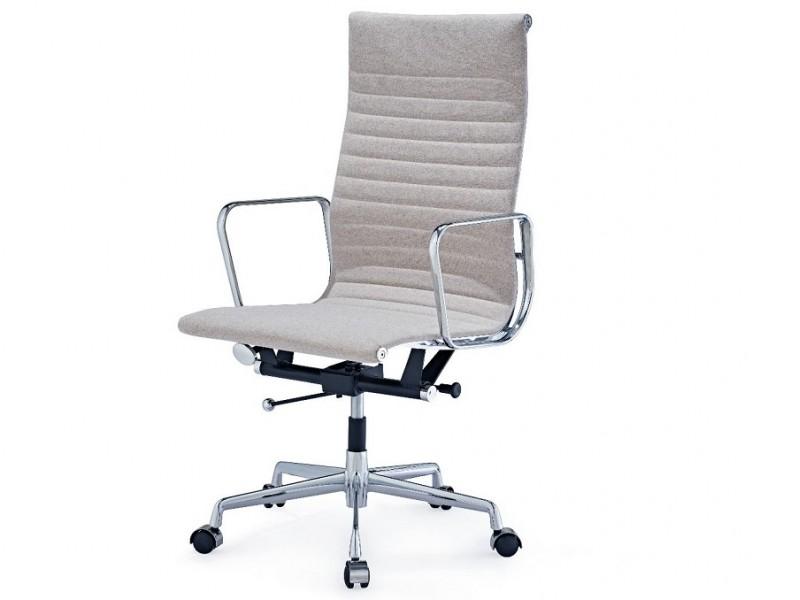 Image de la chaise design Silla Eames Alu EA119 - Gris beige