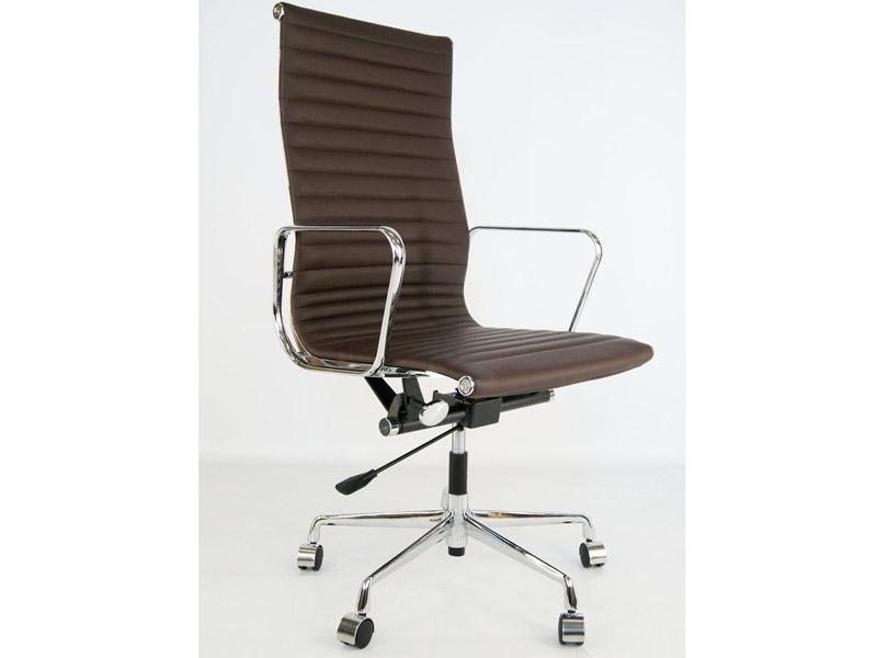 Image de la chaise design Silla Eames Alu EA119 - Marrón oscuro