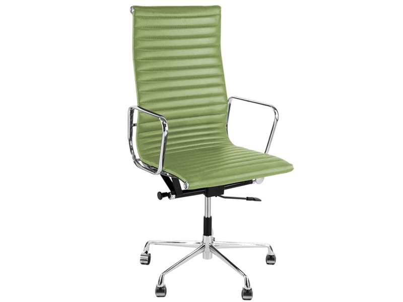 Image de la chaise design Silla Eames Alu EA119 - Verde limón
