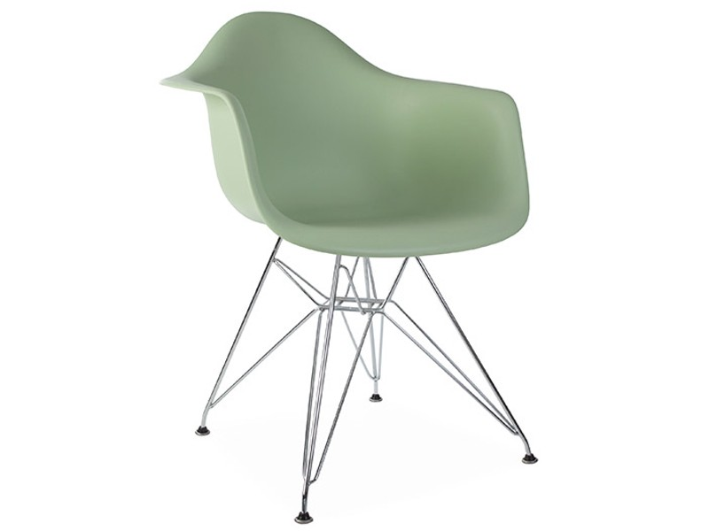Image de la chaise design Silla Eames DAR - Almendra verde