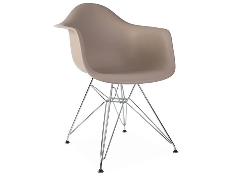 Image de la chaise design Silla Eames DAR - Beige gris