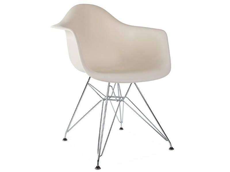 Image de la chaise design Silla Eames DAR - Crema