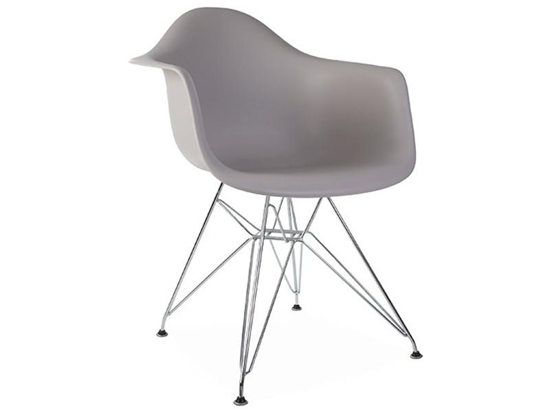 Image de la chaise design Silla Eames DAR - Gris ratón