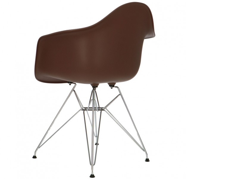 Image de la chaise design Silla Eames DAR - Marrón