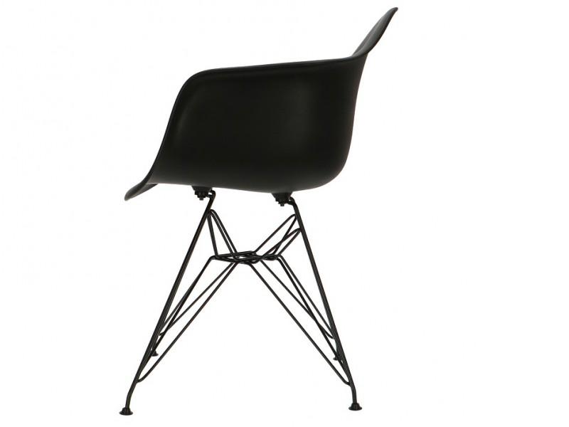 Image de la chaise design Silla Eames DAR - Negro