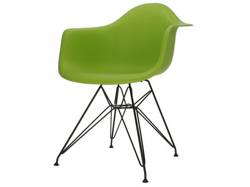 Image de la chaise design Silla Eames DAR - Verde manzana