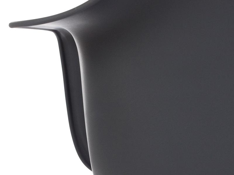 Image de la chaise design Silla Eames DAW - Antracita