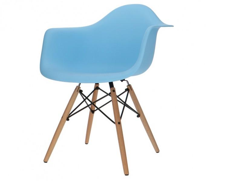Image de la chaise design Silla Eames DAW - Azul claro