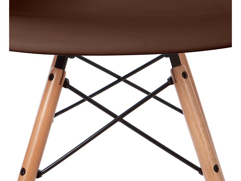 Image de la chaise design Silla Eames DAW - Café