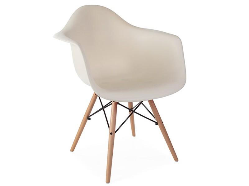 Image de la chaise design Silla Eames DAW - Crema