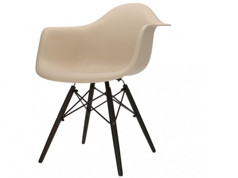Image de la chaise design Silla Eames DAW - Gris beige