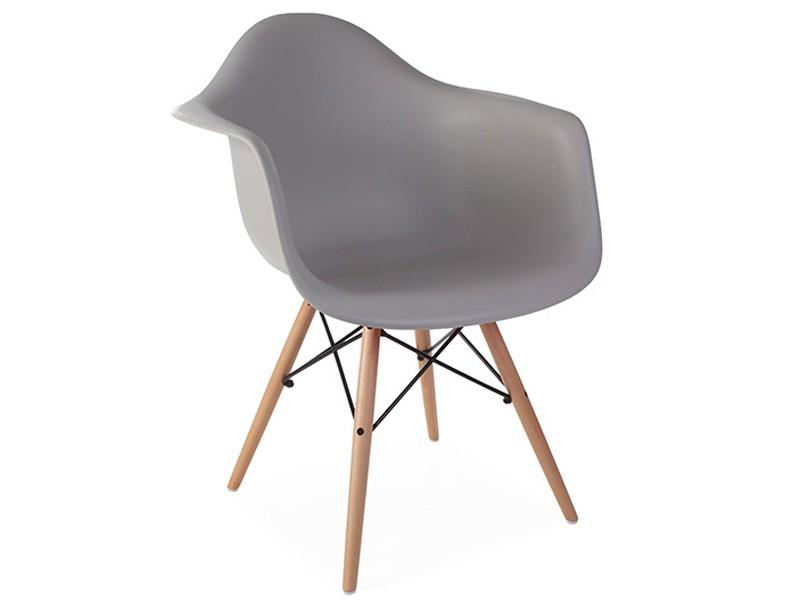 Image de la chaise design Silla Eames DAW - Gris ratón