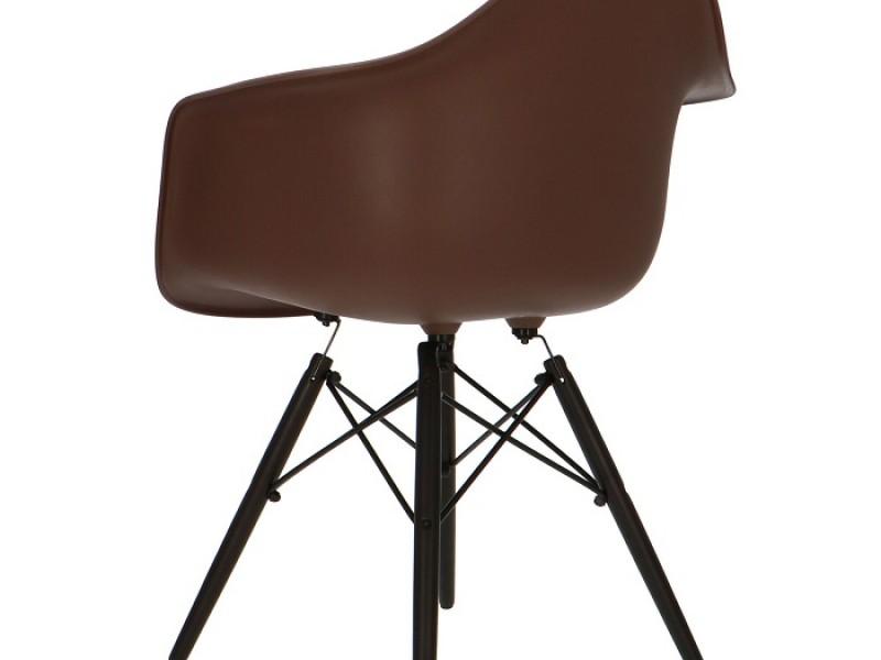 Image de la chaise design Silla Eames DAW - Marrón