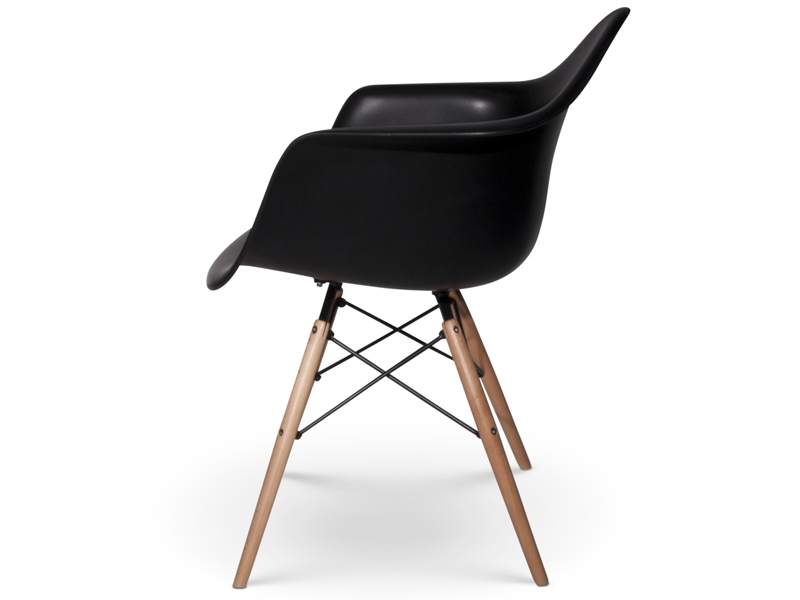 Image de la chaise design Silla Eames DAW - Negro