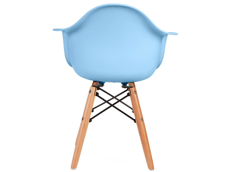 Image de la chaise design Silla Eames DAW Niños - Azul