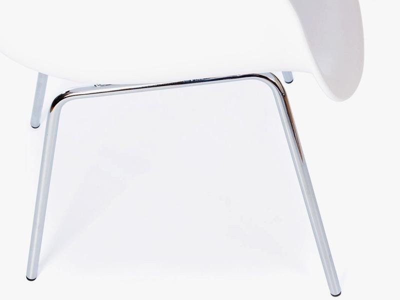 Image de la chaise design Silla Eames DAX - Blanca