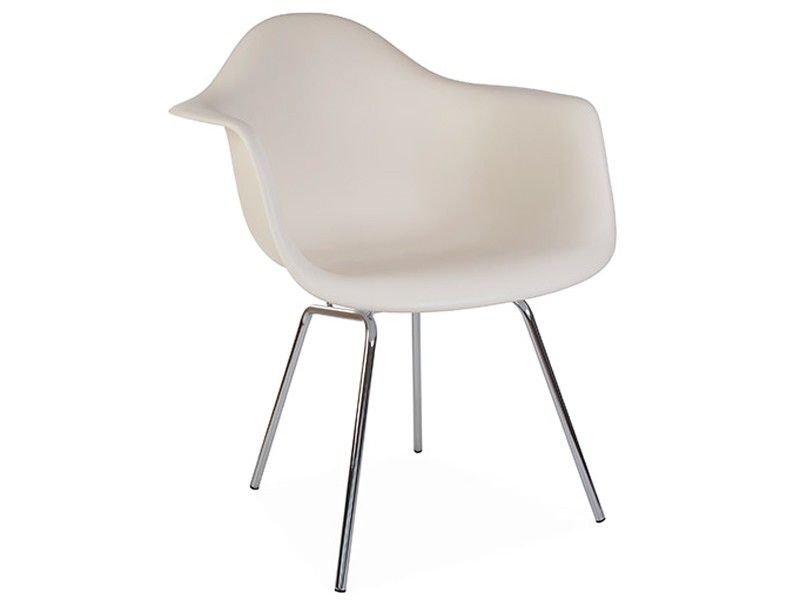 Image de la chaise design Silla Eames DAX - Crema