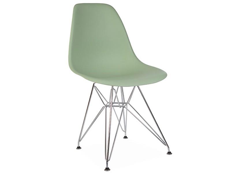 Image de la chaise design Silla Eames DSR - Almendra verde