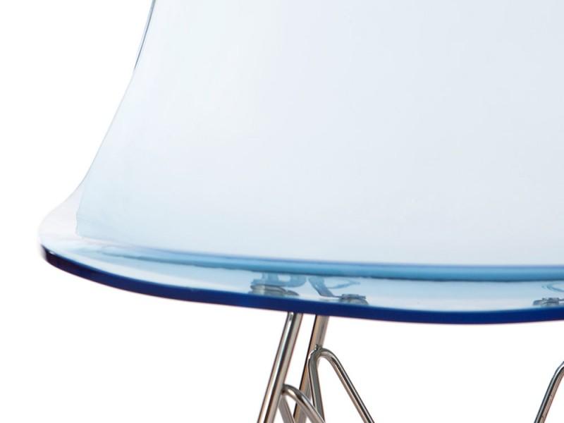 Image de la chaise design Silla Eames DSR - Azul transparente
