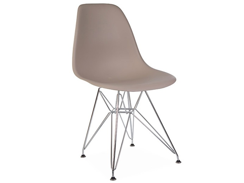 Image de la chaise design Silla Eames DSR - Beige gris