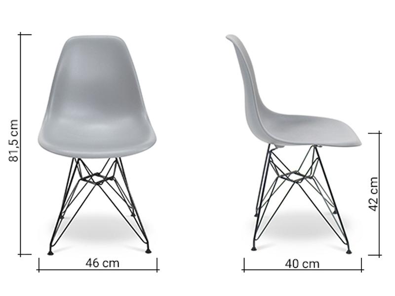 Image de la chaise design Silla Eames DSR - Gris claro