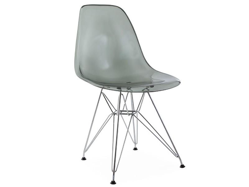 Image de la chaise design Silla Eames DSR - Gris transparente