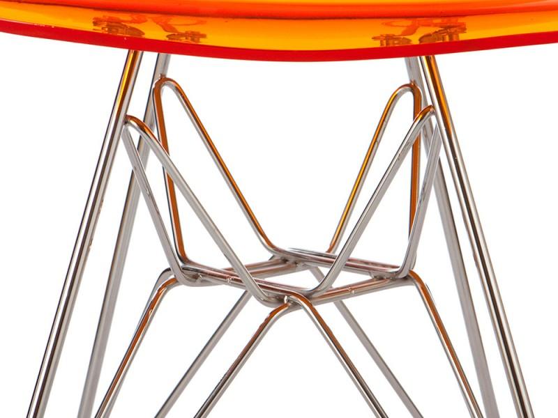 Image de la chaise design Silla Eames DSR - Naranja transparente