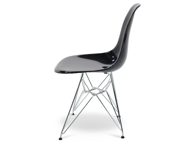 Image de la chaise design Silla Eames DSR - Negro brillante