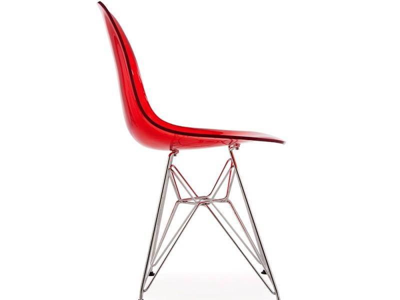 Image de la chaise design Silla Eames DSR - Rojo transparente