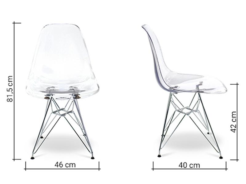 Image de la chaise design Silla Eames DSR - Transparente