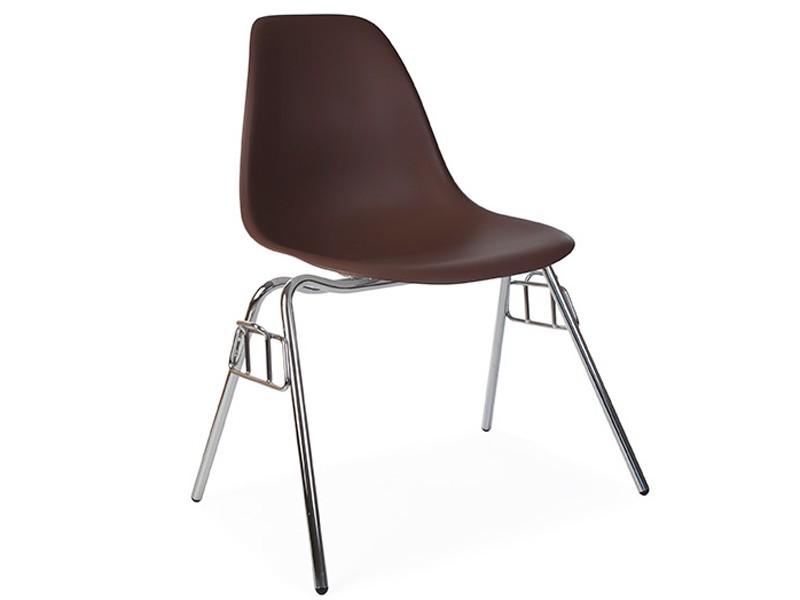 Image de la chaise design Silla Eames DSS apilable - Café