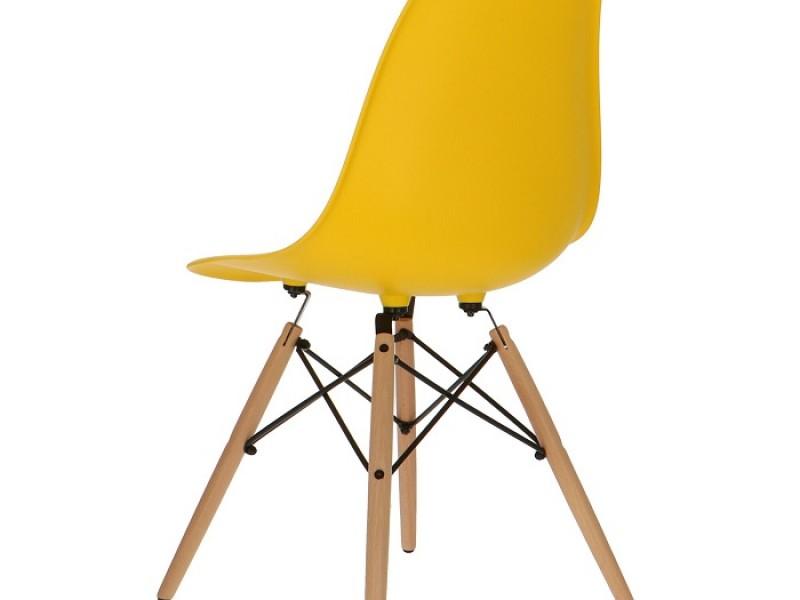 Image de la chaise design Silla Eames DSW - Amarillo