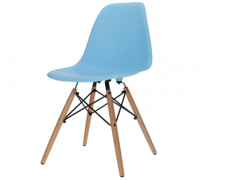 Image de la chaise design Silla Eames DSW - Azul claro