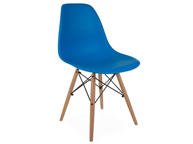 Image de la chaise design Silla Eames DSW - Azul marino