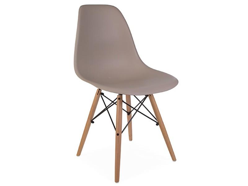 Image de la chaise design Silla Eames DSW - Beige gris