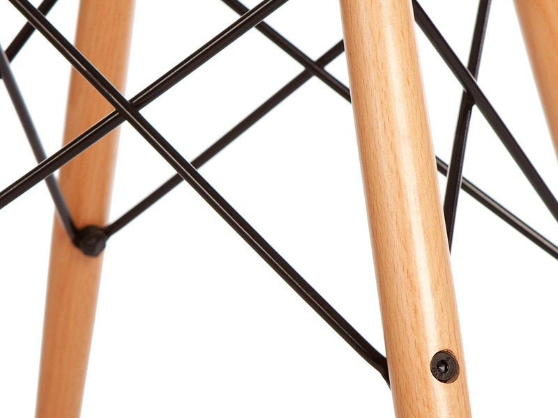 Image de la chaise design Silla Eames DSW - Café