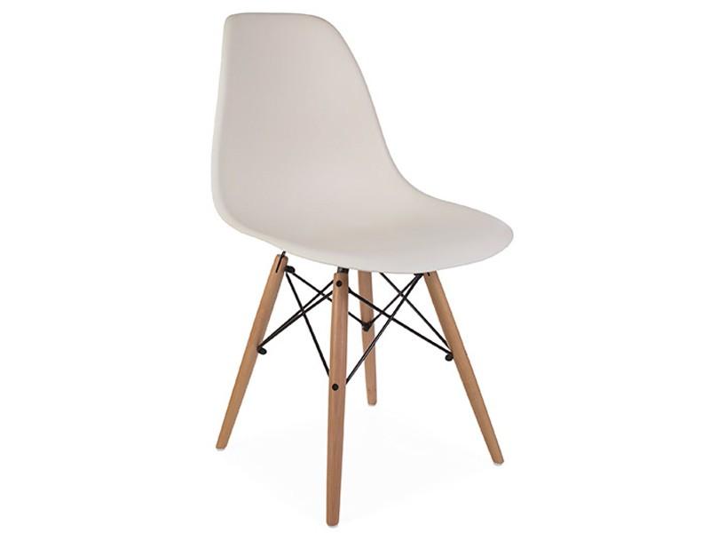Image de la chaise design Silla Eames DSW - Crema